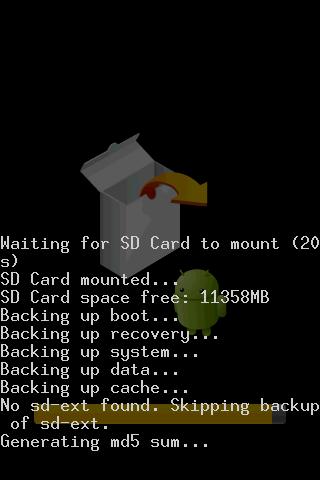 ClockworkMod Backup