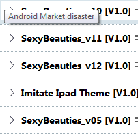 Android Market disaster