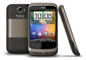 htc wildfire brown