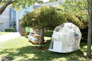 TechCrunch Spies A Wrapped Froyo Sculpture At The Googleplex. Forget That - Here Is The Unwrapped Sculpture Caught On Camera In Its Full Glory