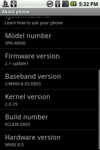 Samsung Moment Android Eclair 2.1 Update Goes Live Early, Available Now From Sprint, Already Rooted