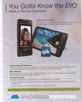 HTC EVO 4G campaign in RadioShack (The Shack)