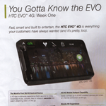 HTC EVO 4G campaign in RadioShack (The Shack)