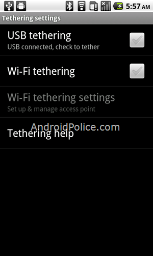 More Exclusive Information And Pictures Of Android 2.2 Froyo's Tether And Built-in WiFi Access Point/Mobile Hotspot Capabilities
