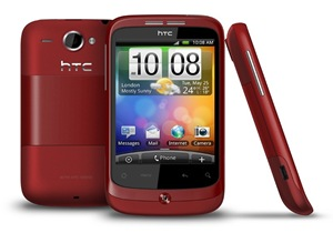red htc wildfire