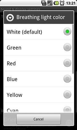 LED trackball options