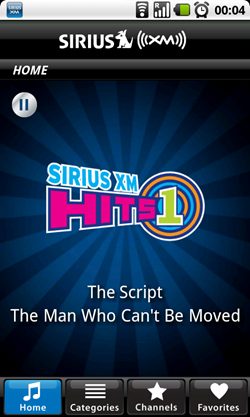 sirius android home