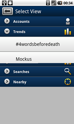 tweetcaster android trends