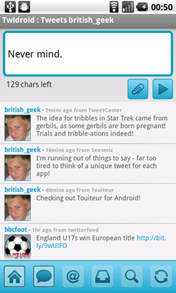twidroid android tweet