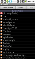 13 - AndFtp - device file browser