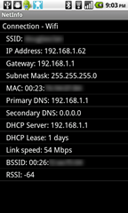 1 - NetworkInfo - home screen