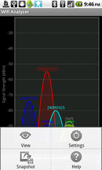 3 - Wifi Analyzer - home screen submenu