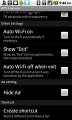 4b - Wifi Analyzer - Settings menu, page 2
