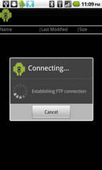 5 - DroidFtp - connecting to my server