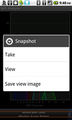 5 - Wifi Analyzer - Snapshot feature is a nice touch