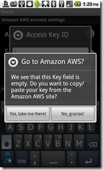 Image 6 - Fetching my AWS key failed and crashed the app