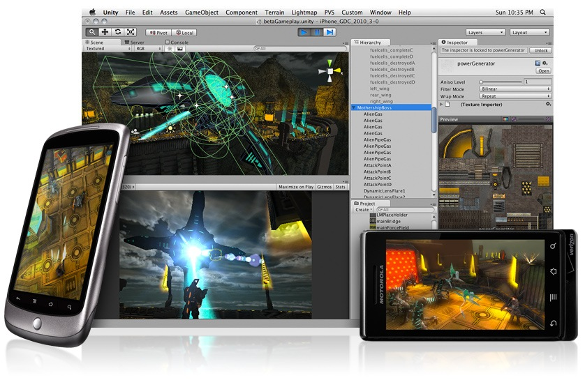 Unity 3D Pro 4.5.5 f1 x86 + Crack (March 26, 2015)