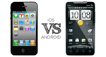 Apple iOS 3 & 4 VS Android 2.1