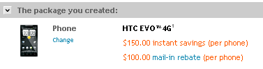 Get The HTC EVO 4G From Sprint.com For $150 ($50 Off)