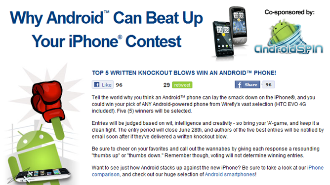 Gang Up On Apple And Win One Of 5 Free Android Phones, Including The EVO 4G