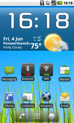 froyo home screen