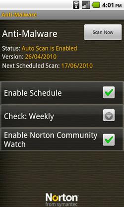 android norton anti-malware home