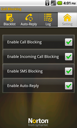 android norton call blocking