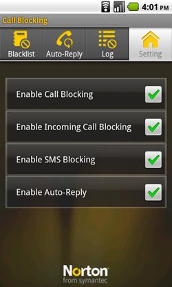 android norton call blocking