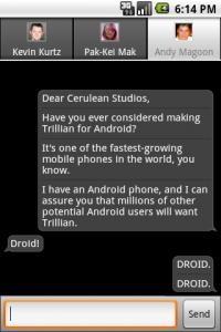 Trillian chat