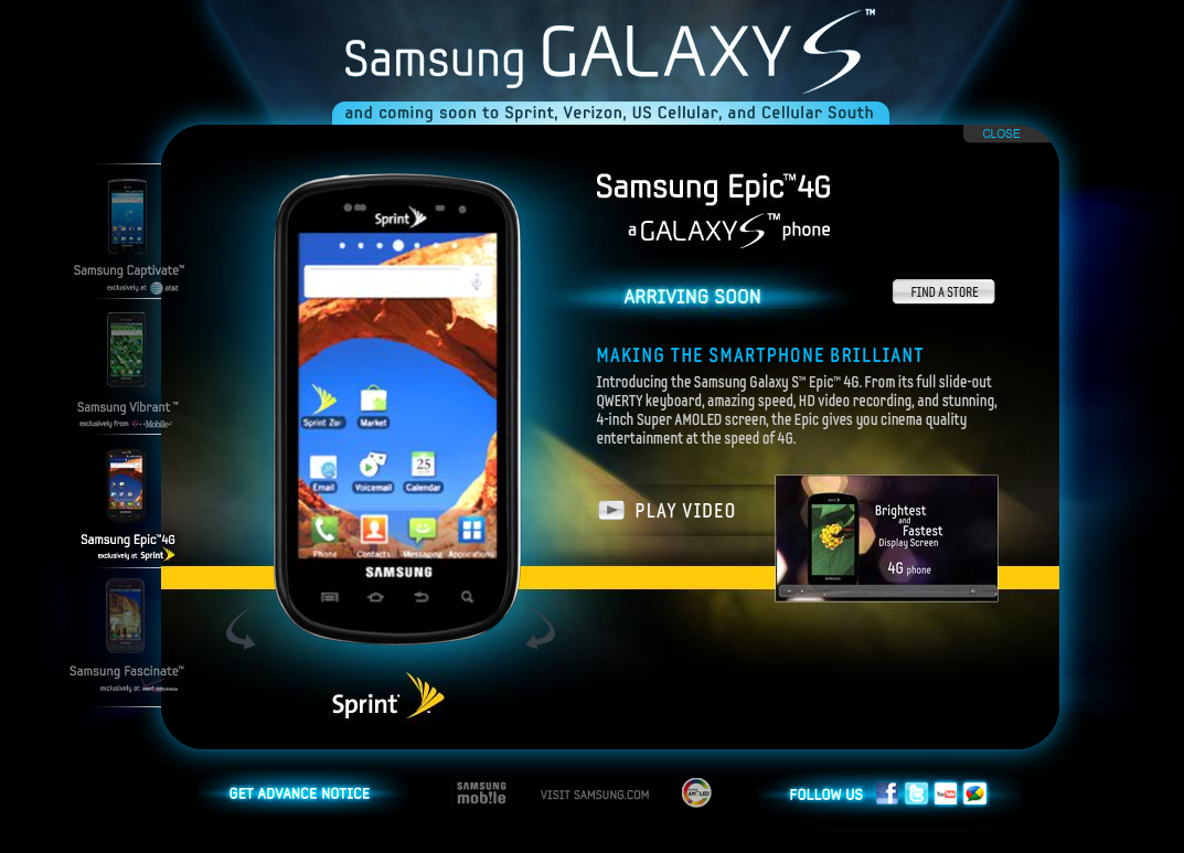 Sprint's Samsung Epic 4G Galaxy S Series Phone To Be ...