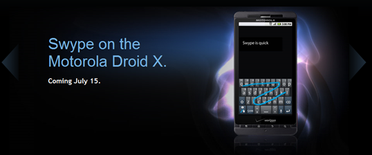 Swype on Droid X