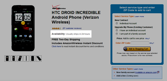 PSA: HTC Droid Incredible For Verizon Now In Stock At Amazon.com, Ships In 24 Hours