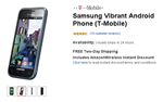 Amazon.com Drops T-Mobile Samsung Vibrant Price To $99.99 From $149.99