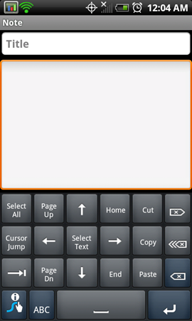 Tip: How To Get Arrow/Cursor Keys On The Swype Keyboard