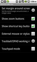 6 - RemoteVNCPro - main settings panel