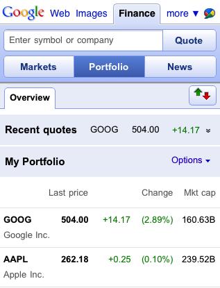 Google Finance Website Gets Mobile: Revamped For Android