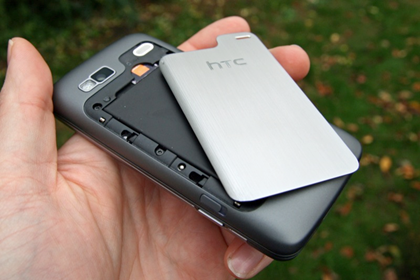 htc desire z battery cover off