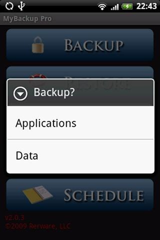 MyBackup Root (screen 2)