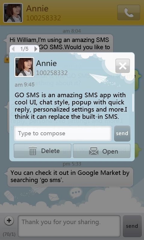 GO SMS - New Messaging App Hits Market, Brings Attractive UI And