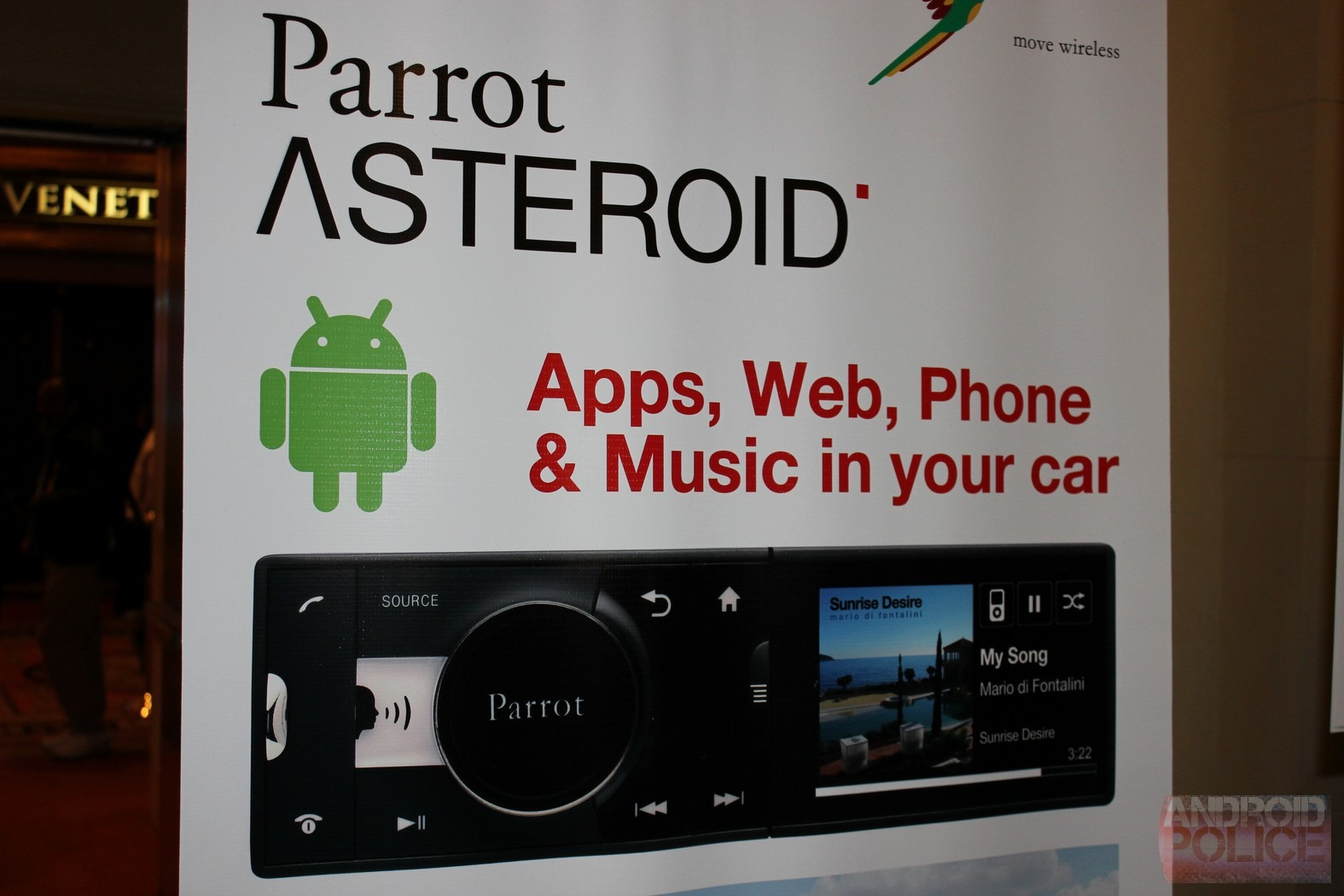 Ces 2011 parrot introduces an android powered asteroid car stereo img7960wm img7961wm image greentooth Gallery