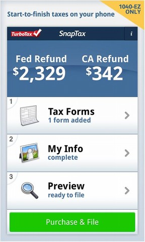 TurboTax Launches SnapTax - A W2-Scanning Tax Filing Android App