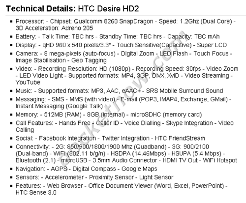dhd2_specs