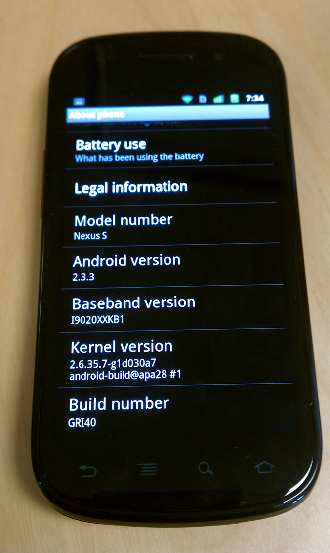 updating to android 2.3