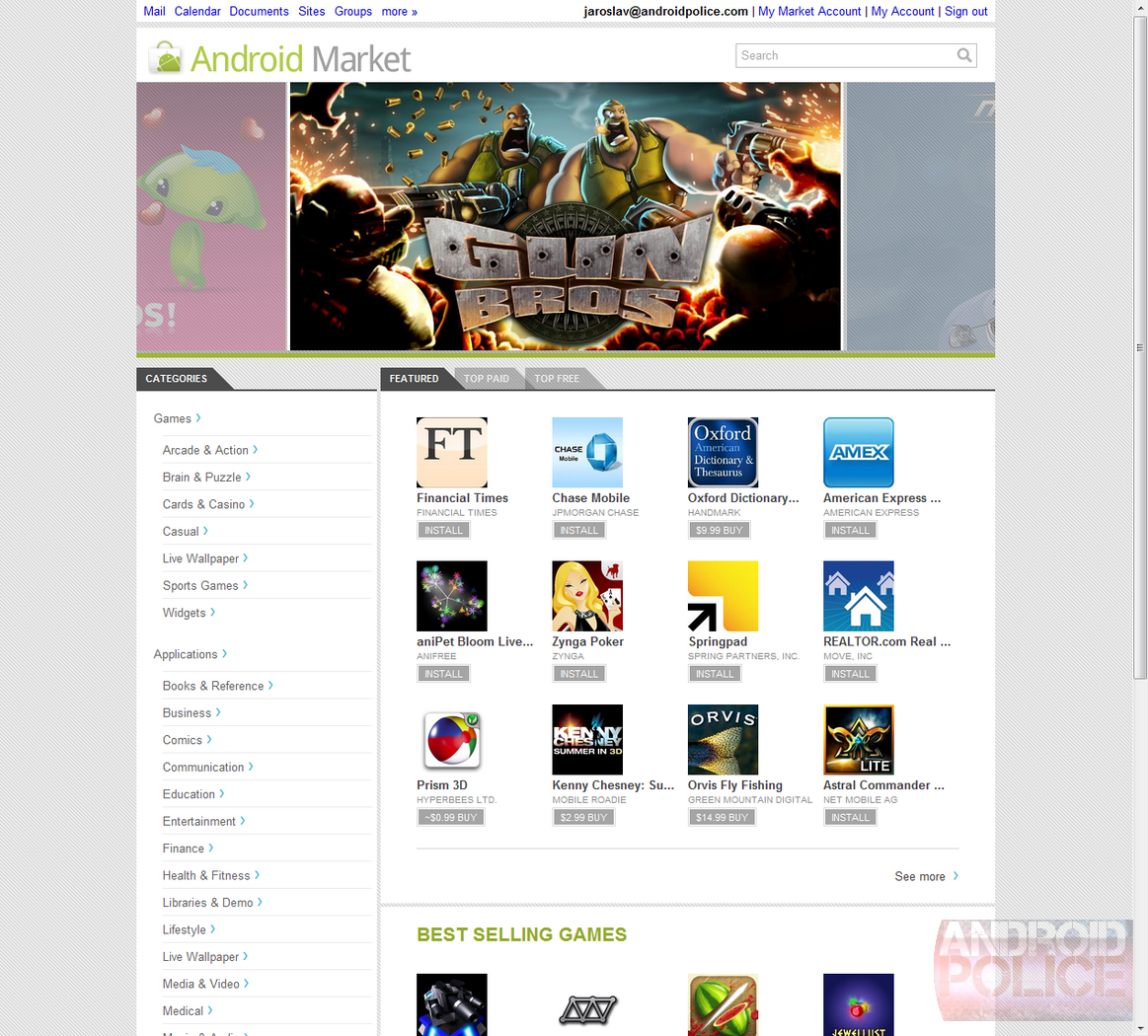 Hands-On] Android Market Web Store: Get Your App On Anytime, Anywhere