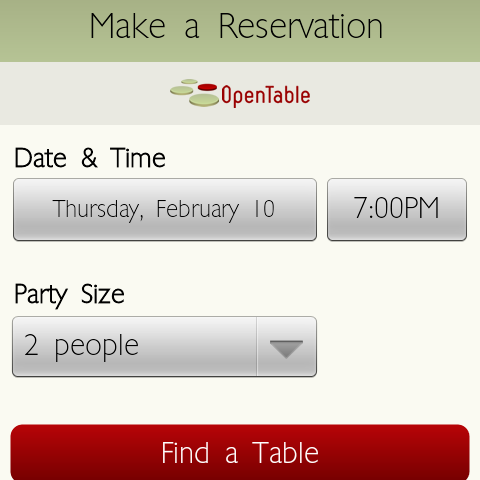 Yelp Update Brings OpenTable Integration Make Reservations - Open table app for android