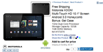 Costco - Motorola XOOM Multi-Touch HD 10.1- Screen Android 3.0 Honeycomb Bonus- Gel Case