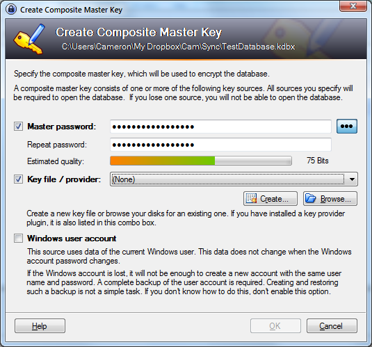 KeePass for Windows