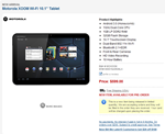 Motorola XOOM Wi-Fi 10.1- Tablet 00001NARGNLX B&H Photo
