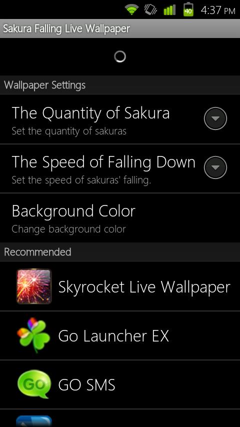Go Dev Team Releases 3 New Beautiful Live Wallpapers Sakura Falling