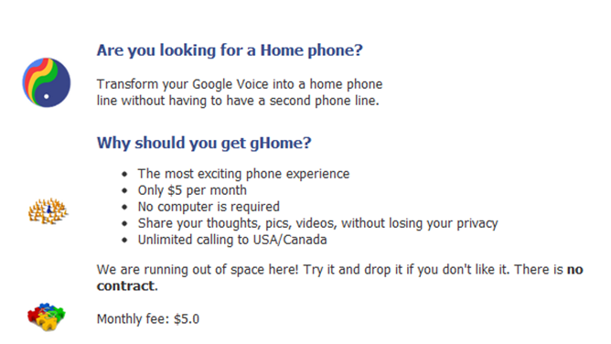 gHome - Transform Your Google Voice™ Into a Home Phone